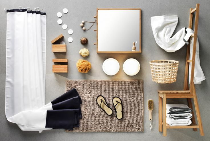 Giving your bathroom a quick IKEA style makeover is a lot easier than you think. Get the spa look with some nature-style decoration, white textiles and accessories for a simple  refresh.