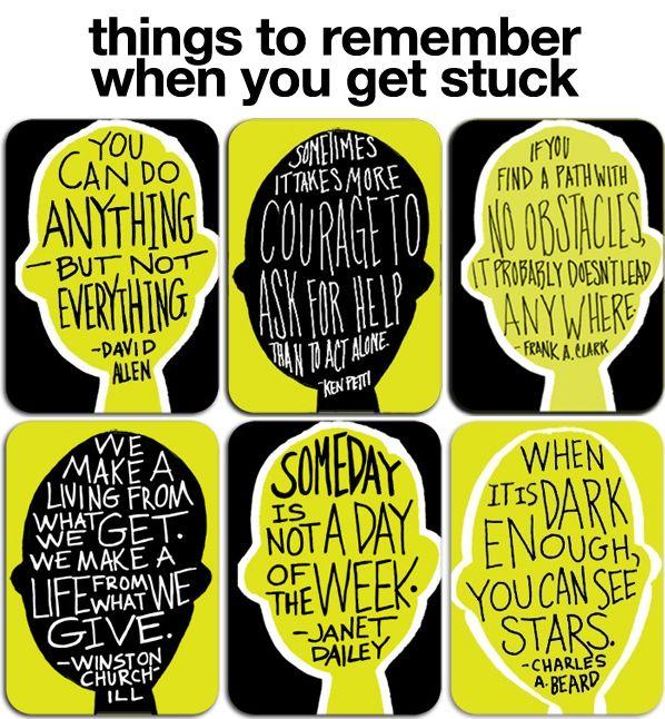 When you get stuck #advice