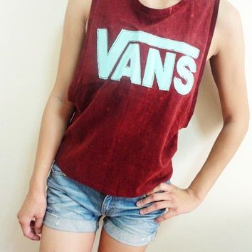 vans off the wall womens singlet