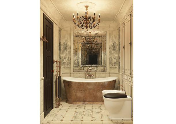Интерьер винтажной ванной комнаты от Павел Белый дизайнер. Не так давно в интерьерной среде стал популярен стиль Винтаж. Этот современный декоративный стиль характеризуется насыщением простого ясного нейтрального пространства интерьера старинными предмета