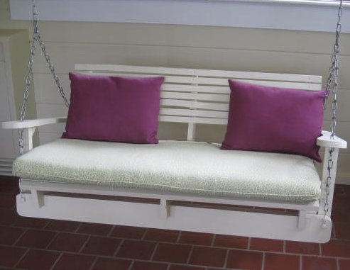1000 ideas about pallet porch swings on pinterest for How to make a pallet porch swing