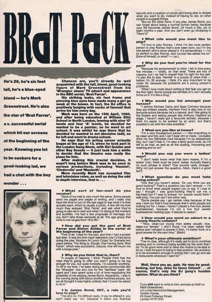 """Interview aus der Zeitschrift """"Blue Jeans"""" August 1986"""