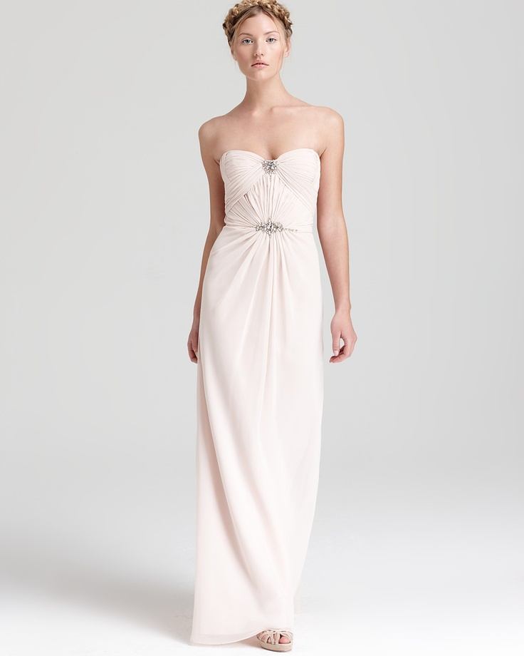 LM By Mignon Strapless Gown Embellished Bloomingdale 39 S 288