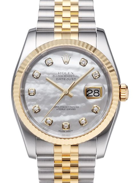 Rolex Datejust 36 116233 Perlmutt Diamant Jubile-Band
