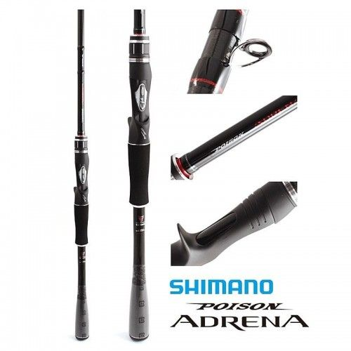 Shimano Poison Adrena CC 2P1610M-2 Baitcasting Rod For Bass Game Fishing