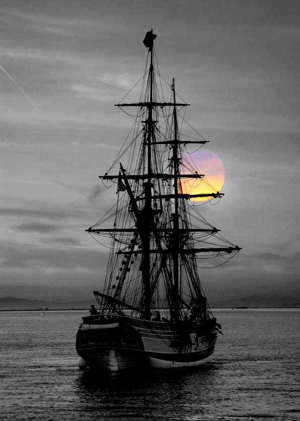 They set sail when the sunrise was only a faint whisper in the east; some thought of what was being left behind, and some thought of what was to come.