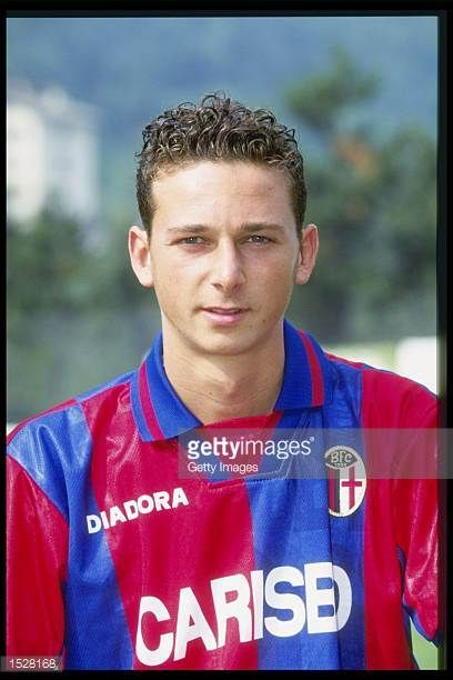 A portrait of Andrea Tarozzi of Bologna taken during the club photocall Mandatory Credit Allsport UK