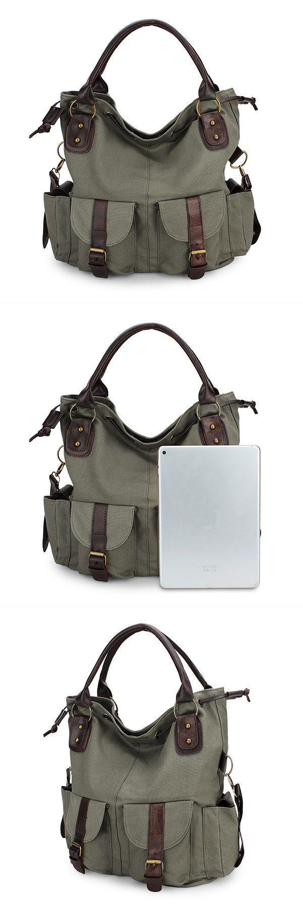 women casual canvas drawstring handbags multi pocket shoulder bags crossbody bags handbags express #88 #handbags #handbags #jcpenney #handbags #tj #maxx #oxygen #02 #handbags