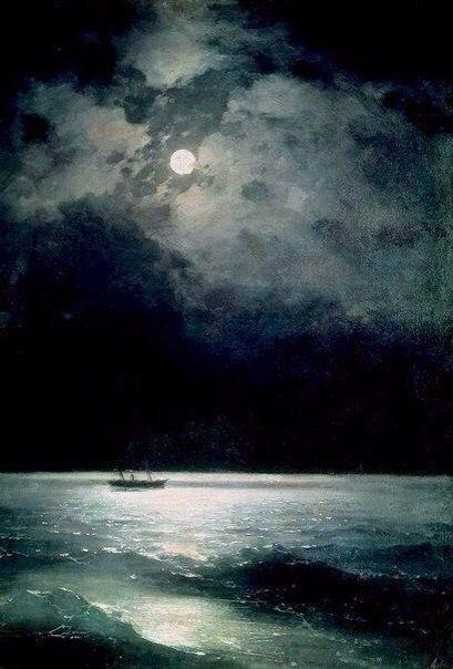 """Иван Айвазовский, """"Ночное Черное море"""" 1879 год"""