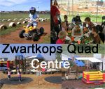 Zwartkops Quad Centre - Centurion, experience the sensation of riding a quad bike. It is a safe environment especially developed for kids to try out a quad without the risk of getting hurt by unwanted obstacles and vehicles.