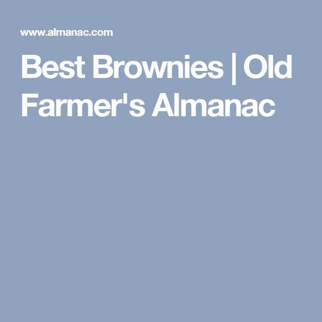 Best Brownies | Old Farmer's Almanac