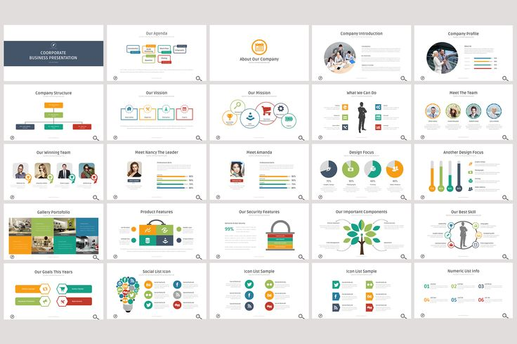 Coorporate Business Power Point by DesignCorner on @creativemarket