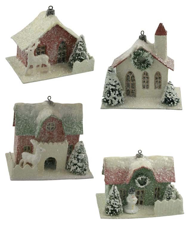 Traditional Paper House Ornaments