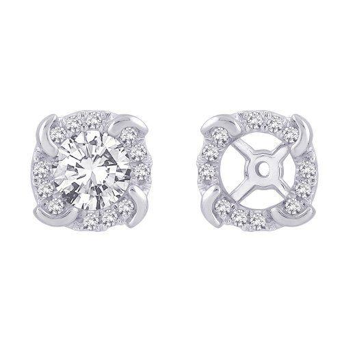 14K White Gold, Diamond Earring Jackets (1/5 cttw) Katarina. $380.00