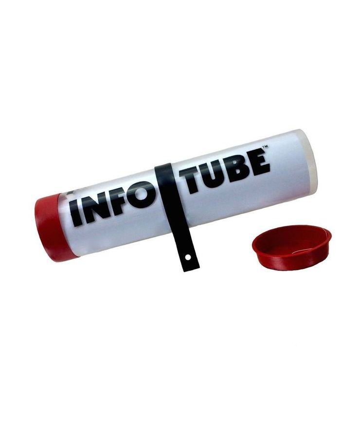 Qty 24 Infotube Outdoor Brochure Holder Info Flyer Tube #MarketingHolders