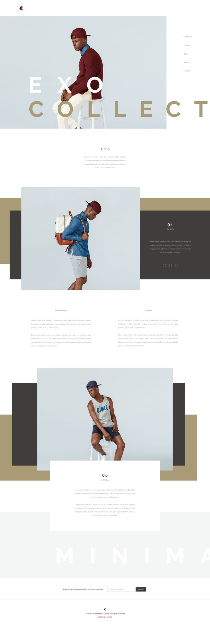 Fashion Website by Matteo Pasuto #web #webdesign #design #layout #grid