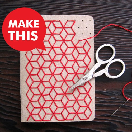 DIY Notebook for all those rad stationery lovers like me , heres to us !---graphic cover idea