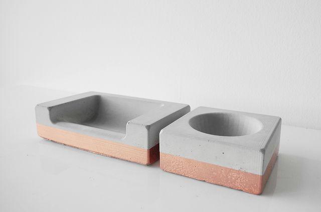 Medium Dog Bowl concrete cement mold