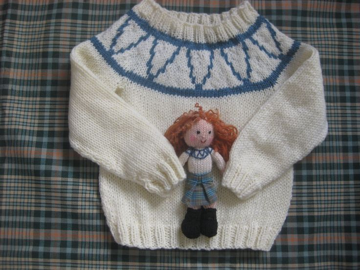 Knitting Pattern For Dolls Jumper : Katie morag inspired jumper and doll by KaypeeClothing ...