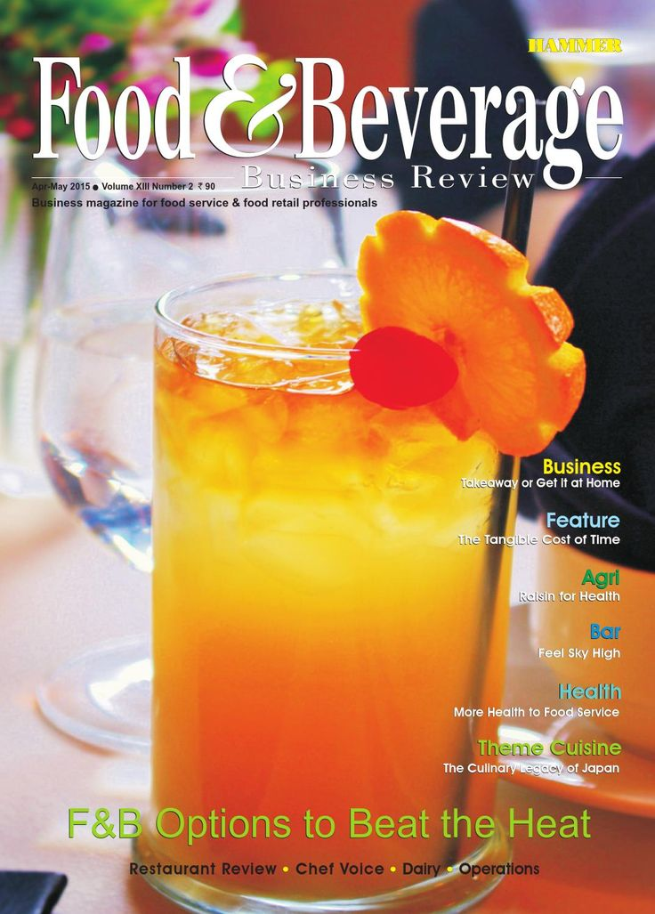 Food & Beverage Business Review ( April-May 2015)  Here we have explored guests' preferred F&B options for the summer season across some high-end food service establishments in the country, and also the establishments' creative Endeavour's to meet the demands of their discerning guests. The growing demand for takeaway and home delivery food business is being discussed in our Business Story.  The Feature section probes the potential and real loss that can be accrued if guests' billings are…