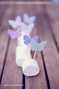 Butterfly Party Food - marshmallow butterflies !