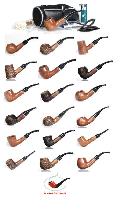 Sady pro začínající kuřáky dýmky Sets for new pipe smokers
