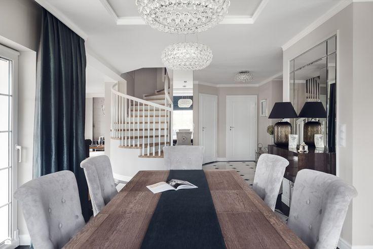 Widok z jadalni na hol - zdjęcie od GSG STUDIO | interiors & design - Jadalnia - Styl Art- deco - GSG STUDIO | interiors & design