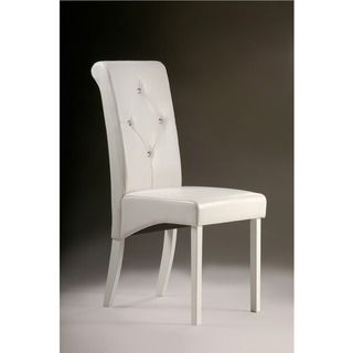 Warehouse of Tiffany White Dining Room Chairs (Set of 2) | Overstock.com Shopping - Great Deals on Warehouse of Tiffany Dining Chairs