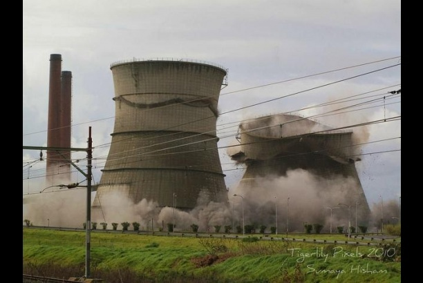 athlone cooling towers demolition- not the prettiest site, however pretty cool to see something blow up like this