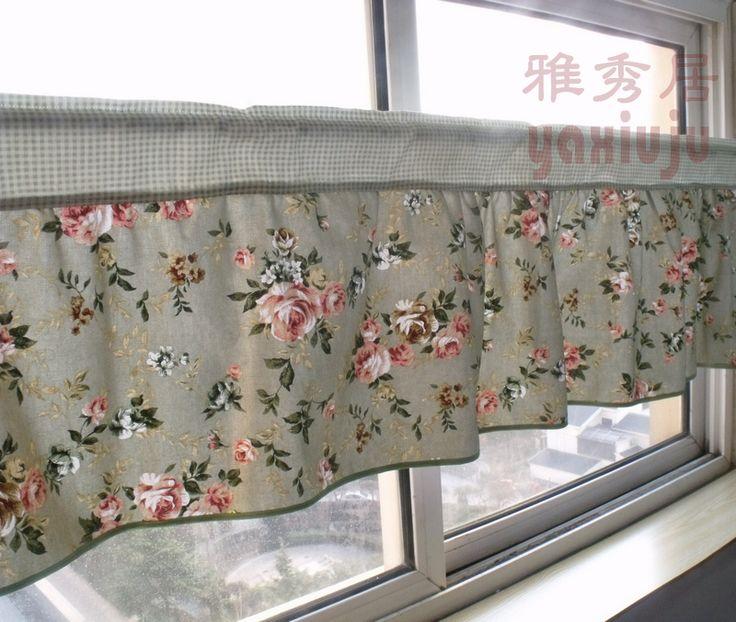 Бесплатная доставка плед пион цветок хлопка кухонные занавески для гостиной спальня кофе занавес 140 * 40 см индивидуальные купить на AliExpress