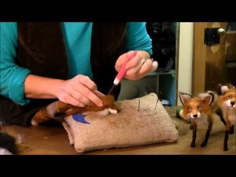 How to Needle Felt Animals - Fox Series 7: Ears by Sarafina Fiber Art - YouTube