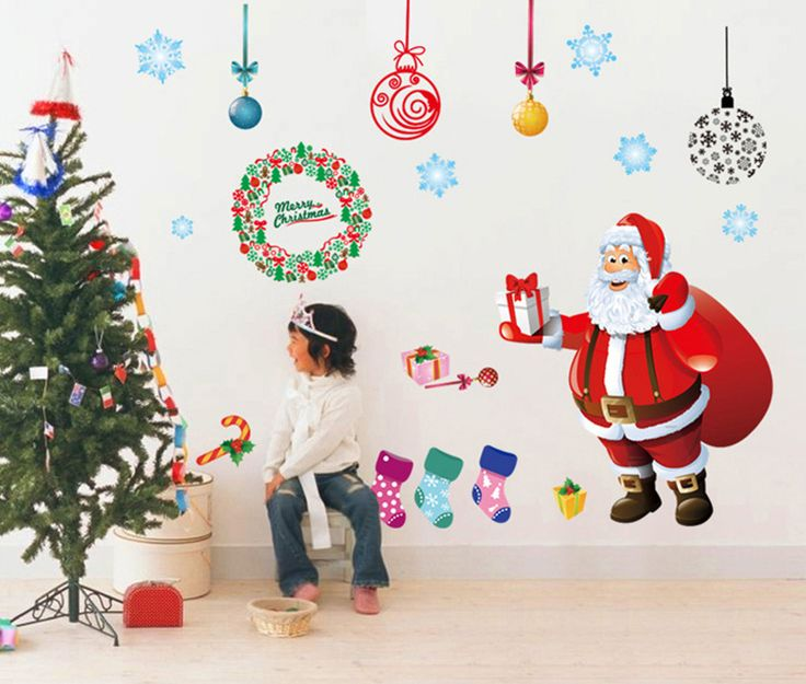 Best Christmas Decals Images On Pinterest Wall Stickers - Christmas wall decals removable