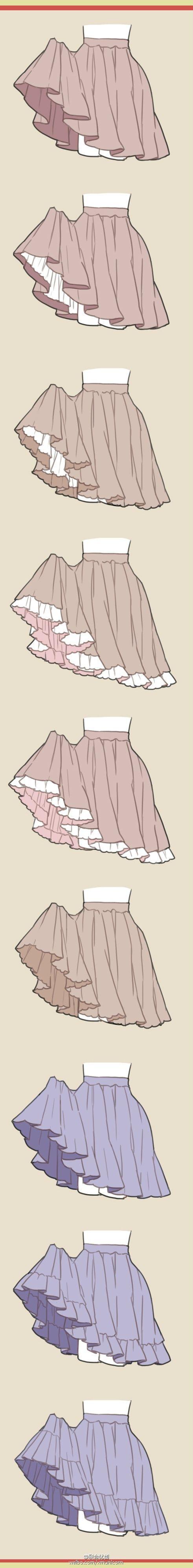 スカートの動き