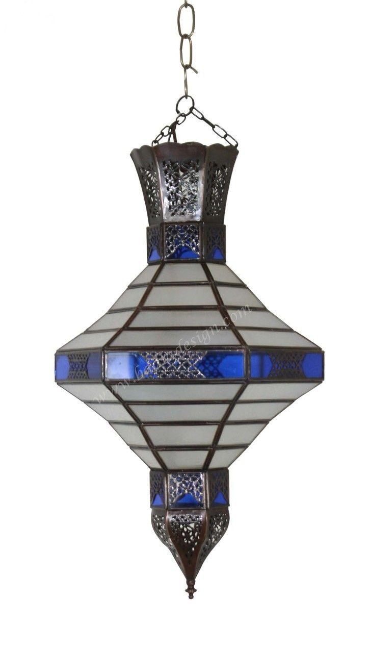Multi Color Lantern With Soft White Glass
