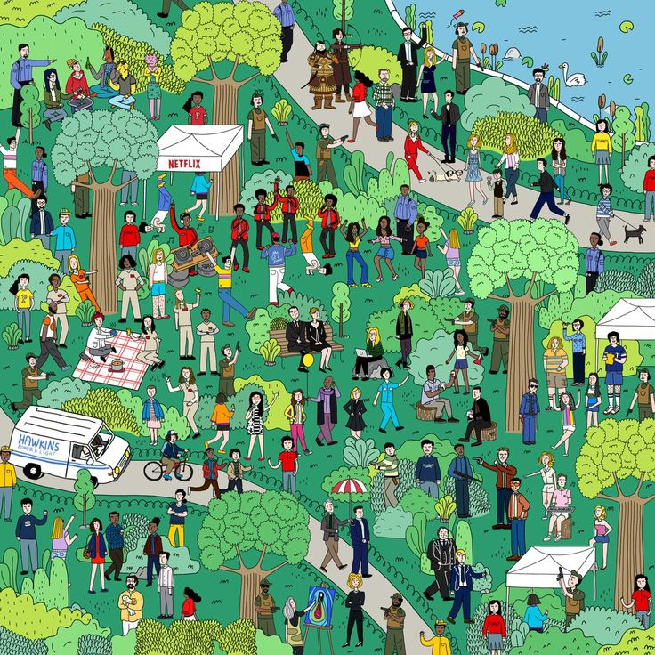 Can you spot all your favorite Netflix characters in this 'Where's Waldo'…