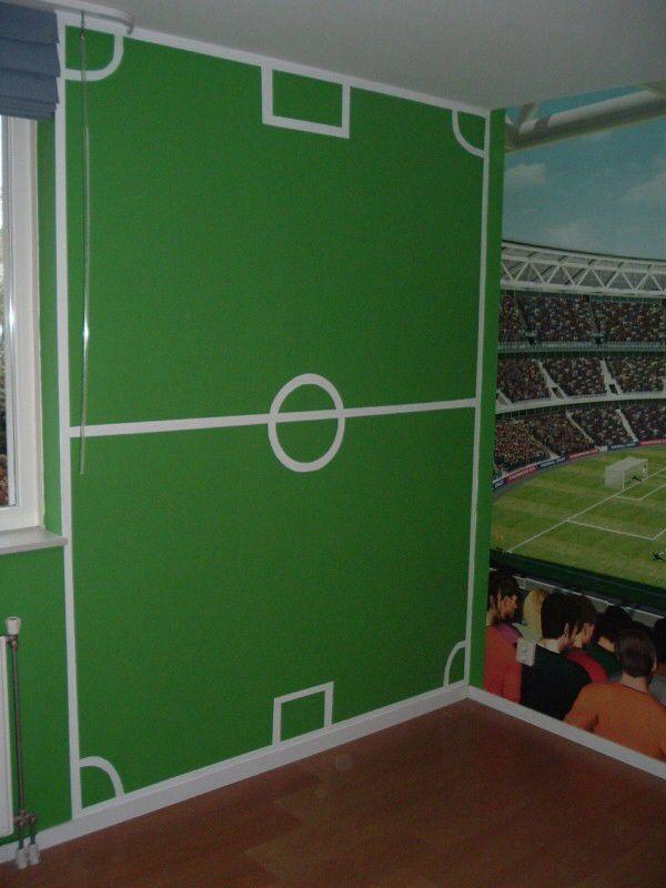 25 beste idee n over voetbal slaapkamer op pinterest jongens voetbal slaapkamer voetbal - Muur kamer kind ...