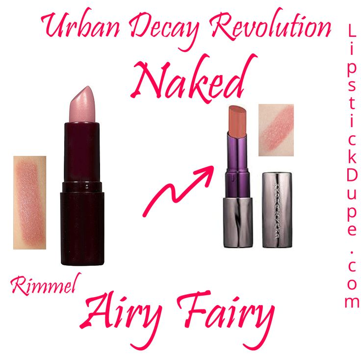 Urban Decay Revolution Lipstick Naked Dupe Rimmel Airy Fairy