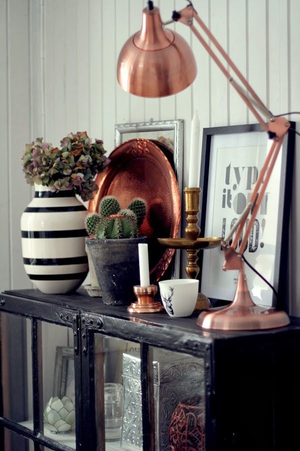 Copper, stripes, typology, and a cactus.