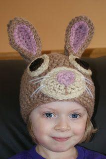 Darlas Bunny Hat   Free Crochet Pattern  copyright Oombawka Design