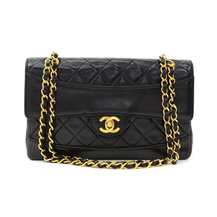 Authentic Chanel Black quilted leather bag + pouch. It has flap closure with twist lock. One open pocket on the back and inside has Chanel red leather lining. Comfortably carry on shoulder with single or double chain. Very nice and rare to find this bag! #Chanel #fmasarovic #Handbags