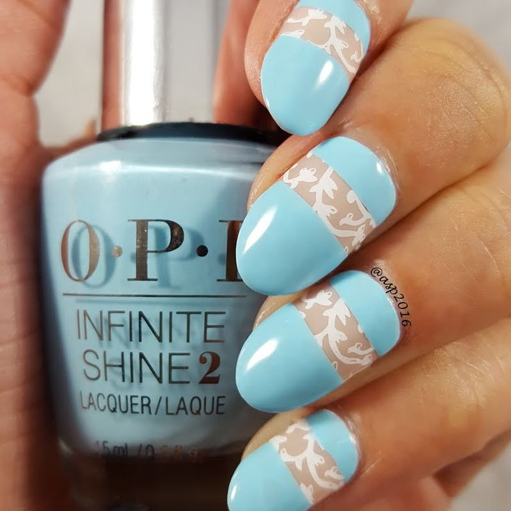 Anya nails this sweet and romantic nail art using using her gifted  #OPI Breakfast at Tiffany's Infinite Shine Nail Lacquer in I Believe in Manicures that she received for being a Preen.Me VIP. Make it yours by clicking through.