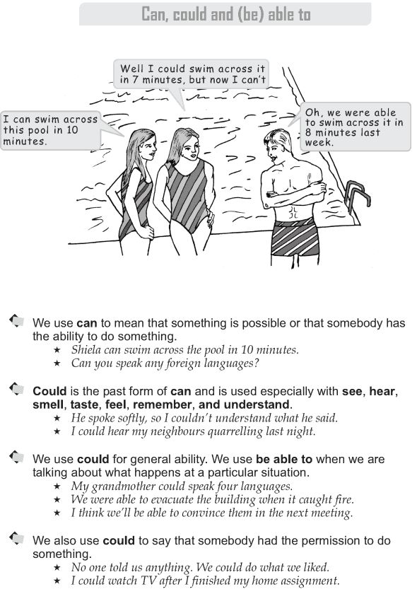 Grade 9 Grammar Lesson 20 Can, could and (be) able to