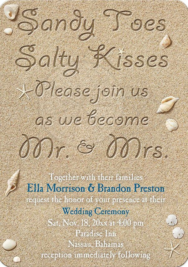 adorable beach wedding invitation wording ideas