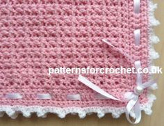 Free baby crochet patterns Pram Cover/Blanket USA/CAN
