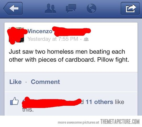 Homeless Fight:  Internet Site, Pillows Fight,  Website, Funny Pictures, Web Site, Funny Stuff, Funnies, Pillow Fight, Homeless Fight