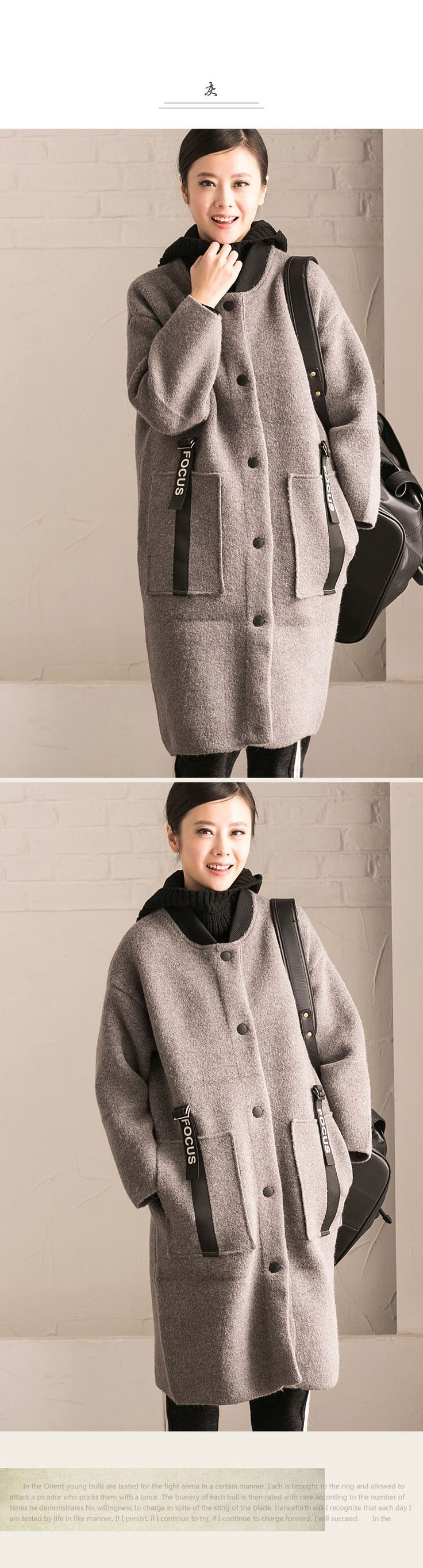 Loose long coat women's winter coat