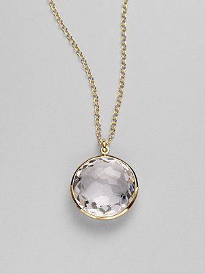 ippolita clear quartz necklace