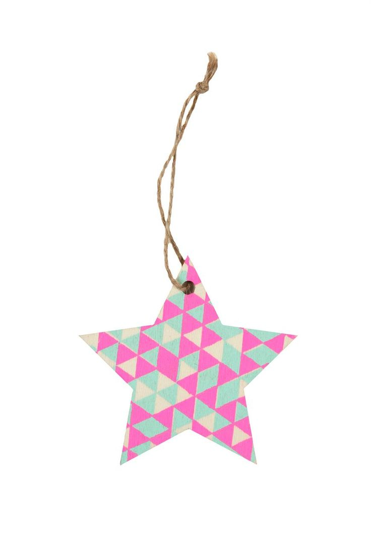printed wooden ornament