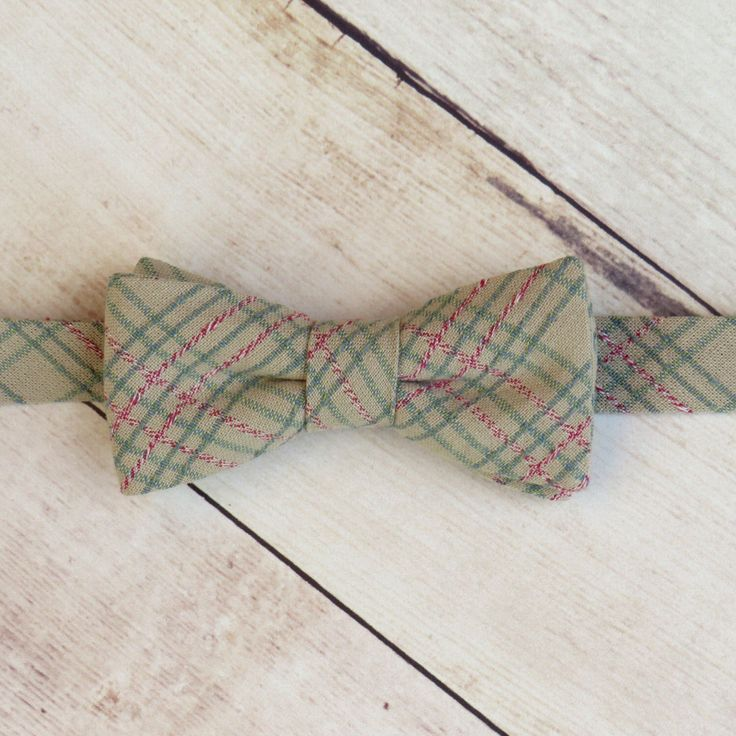 Baby Boy Bow Tie  Cream Sage Plaid Bow Tie   Cotton Bow Tie   Adjustable Strap Bow Tie   Boy Kid Bow Tie  Ring Bearer Bow Tie  Photo Prop by SuperBowDesign on Etsy https://www.etsy.com/uk/listing/477530352/baby-boy-bow-tie-cream-sage-plaid-bow