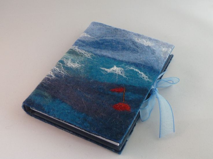 Hand felted A6 Journal - Red Buoy - by Deborah Iden. Available on Etsy.  See more by LittleDeb on Folksy and Facebook.